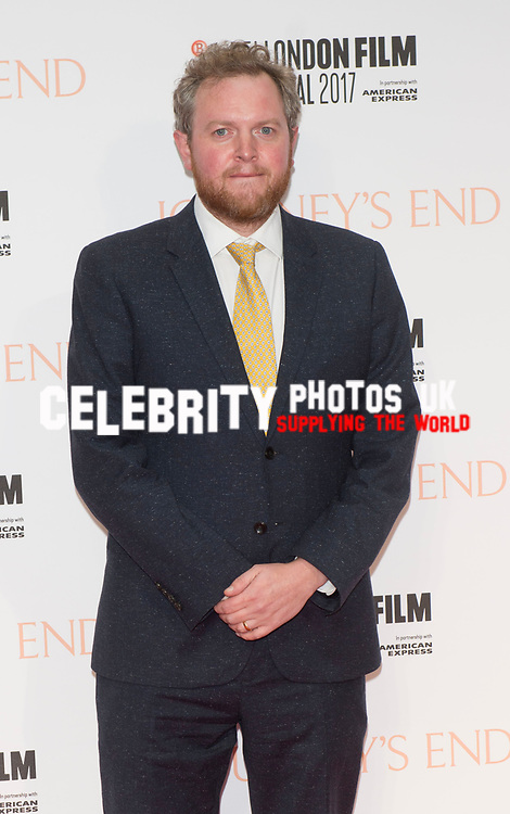 Miles Jupp at the 'Journey's End' film premiere, 61st BFI London Film Festival, UK  6th Oct 2017