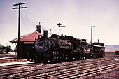 D&amp;RGW #483 with caboose hop at Antonito depot.<br /> D&amp;RGW  Antonito, CO