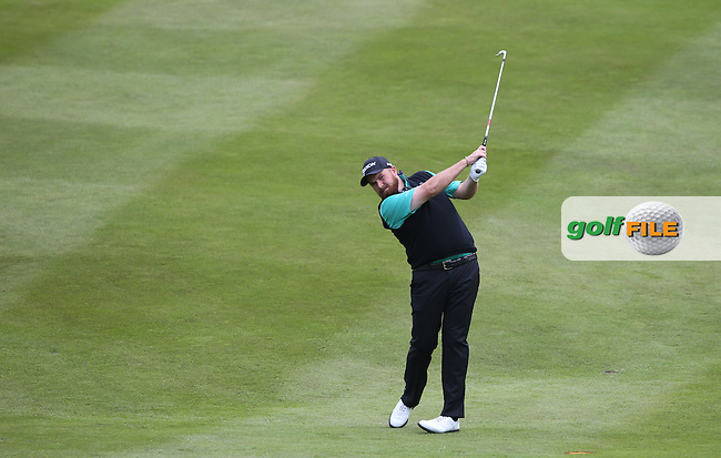 Shane Lowry (IRL) plays second shot to the 7th during Round Two of the 2015 BMW PGA Championship over the West Course at Wentworth, Virginia Water, London. 22/05/2015Picture David Lloyd, www.golffile.ie.