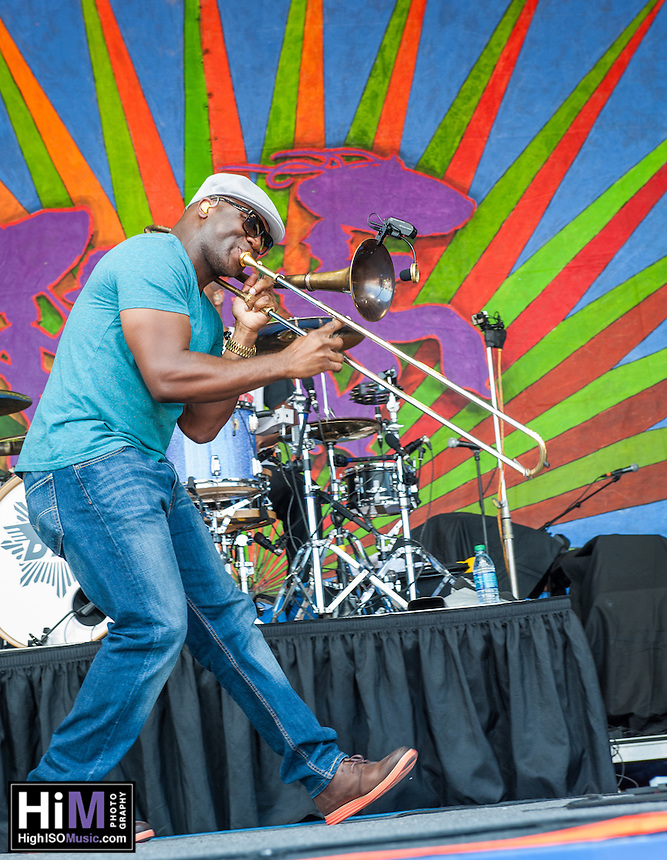 Big Sam at Jazz Fest 2014 on Day 6.