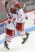 Nikolas Olsson (BU - 13), Charlie McAvoy (BU - 7) - The Boston University Terriers tied the visiting Providence College Friars 2-2 on Saturday, December 3, 2016, at Agganis Arena in Boston, Massachusetts.