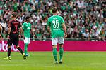 01.09.2019, wohninvest WESERSTADION, Bremen, GER, 1.FBL, Werder Bremen vs FC Augsburg<br /> <br /> DFL REGULATIONS PROHIBIT ANY USE OF PHOTOGRAPHS AS IMAGE SEQUENCES AND/OR QUASI-VIDEO.<br /> <br /> im Bild / picture shows<br /> Spielerwechsel Werder Bremen, Einwechslung Christian Groß / Gross (Werder Bremen #36), <br /> Groß feiert sein Bundesliga-Debüt, <br /> <br /> Foto © nordphoto / Ewert