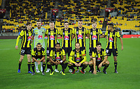 The Phoenix starting XI for the A-League football match between Wellington Phoenix and Melbourne City FC at Westpac Stadium in Wellington, New Zealand on Sunday, 21 April 2019. Photo: Dave Lintott / lintottphoto.co.nz