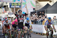 John Degenkolb (DEU/Giant-Alpecin) victoriously on the Via Roma<br /> <br /> 106th Milano - San Remo 2015