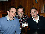 Vinny Corrigan, Eoghan McEvoy and Darren Meegan at the Tequila Rose gig in McPhail's. Photo:Colin Bell/pressphotos.ie