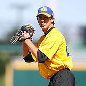 April 17, 2009:  Pitcher Jay Buente of the Jacksonville Suns, Southern League Class-AA affiliate of the Florida Marlins, during a game at the Baseball Grounds of Jacksonville in Jacksonville, FL.  Photo by:  Mike Janes/Four Seam Images