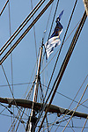 The mast on the US Brig Niagara Ship