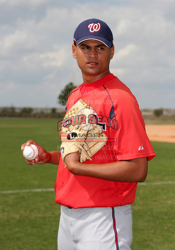 Washington Nationals minor leaguer Carlos Martinez during Spring Training at the Carl Barger Training Complex on March 19, 2007 in Melbourne, Florida.  (Mike Janes/Four Seam Images)