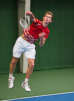 01-12-13,Netherlands, Almere,  National Tennis Center, Tennis, Winter Youth Circuit, Michel de Krom <br /> Photo: Henk Koster