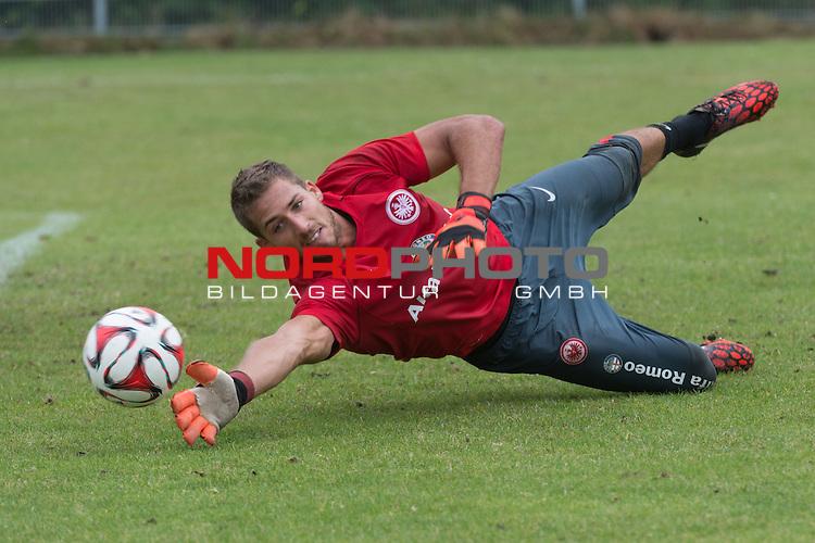 09.07.2014, Wesrstand, Norderney, TL Eintracht Frankfurt 2014 Training, im Bild<br /> <br /> Kevin Trapp (Eintracht Frankfurt)<br /> Querformat,<br /> <br /> Foto &copy; nordphoto / Kokenge