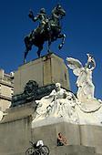 Buenos Aires, Argentina. Statue of Bartolomeu Mitre on horseback.