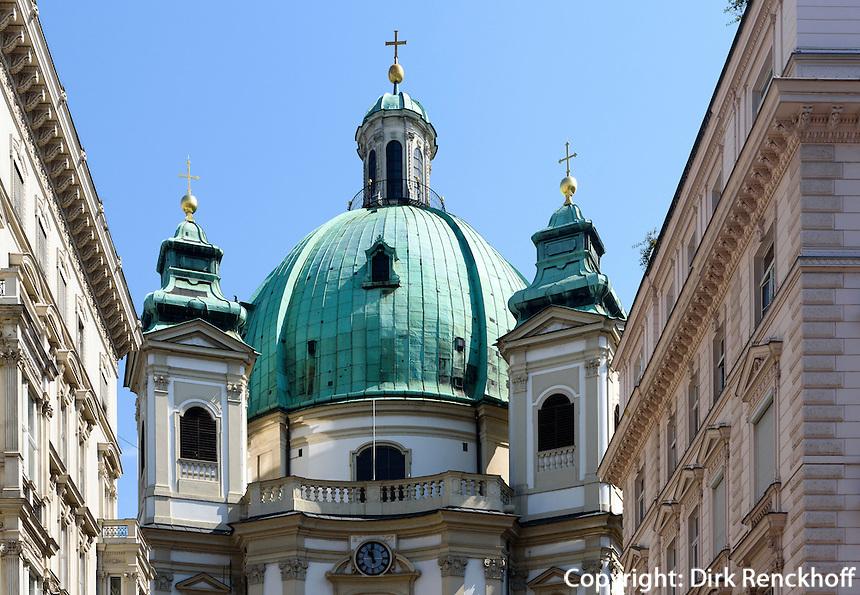 Barocke Peterskirche am Peters Platz, Wien, &Ouml;sterreich, UNESCO-Weltkulturerbe<br /> Baroque Peter's Church, Vienna, Austria, world heritage