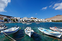 The small harbor in the fishing village Panormos in Tinos island, Greece
