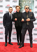 HOLLYWOOD, CA - NOVEMBER 12: Jamie Bell, Annette Bening, Elvis Costello, at the Film Stars Won't Die In Liverpool Special Screening AFI Fest 2017 at the TCL Chinese Theatre in Hollywood, California on November 12, 2017. Credit: Faye Sadou/MediaPunch /NortePhoto.com