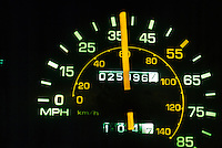SPEEDOMETER READS MPH & KPH 37mph or 60kph