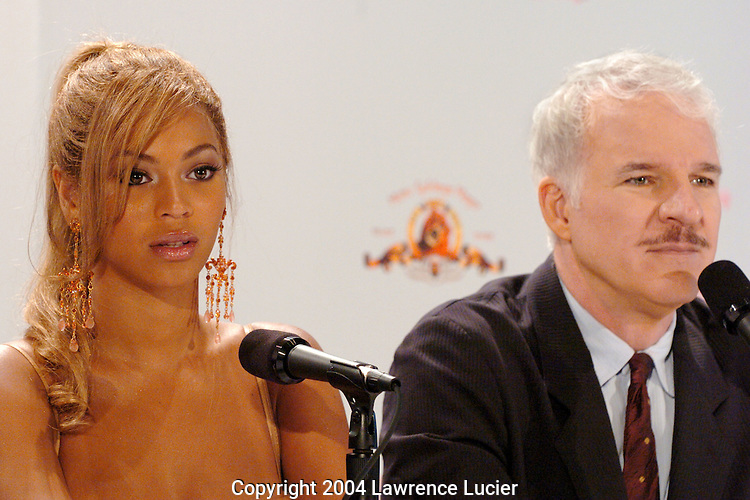 Beyonce Knowles and Steve Martin