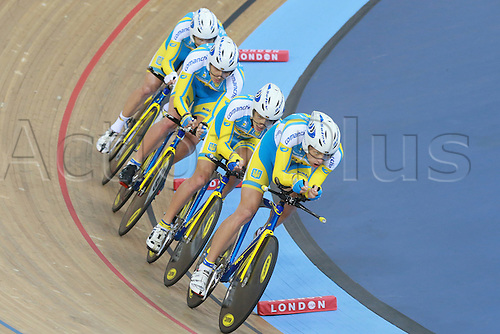03.03.2016. Lee Valley Velo Centre, Lonodn England. UCI Track Cycling World Championships Mens Team Pursuit.  Team Ukraine  <br />