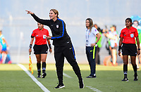 San Diego, CA - Sunday July 30, 2017: Jill Ellis during a 2017 Tournament of Nations match between the women's national teams of the United States (USA) and Brazil (BRA) at Qualcomm Stadium.