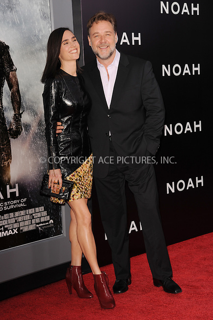 WWW.ACEPIXS.COM<br /> March 26, 2014 New York City<br /> <br /> Paul Bettany and Jennifer Connelly attending the 'Noah' New York premiere at Ziegfeld Theatre on March 26, 2014 in New York City.<br /> <br /> Please byline: Kristin Callahan<br /> <br /> ACEPIXS.COM<br /> <br /> Tel: (212) 243 8787 or (646) 769 0430<br /> e-mail: info@acepixs.com<br /> web: http://www.acepixs.com
