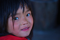 Young girl at Traditional Village of Sopsokha, Punakha District, Bhutan