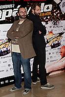 26.07.2012. Premier at Palafox Cinema in Madrid of the movie 'Impavido´, directed by Carlos Theron and starring by Marta Torne, Selu Nieto, Nacho Vidal, Carolina Bona, Julian Villagran and Manolo Solo. In the image Carlos Theron and Julian Villagran (Alterphotos/Marta Gonzalez) /NortePhoto.com <br /> <br /> **CREDITO*OBLIGATORIO** *No*Venta*A*Terceros*<br /> *No*Sale*So*third* ***No*Se*Permite*Hacer Archivo***No*Sale*So*third*©Imagenes*con derechos*de*autor©todos*reservados*.