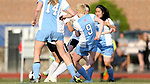20 April 2017: The Durham School of the Arts Bulldogs hosted The North Carolina School of Science and Mathematics Unicorns in a high school women's soccer match. NCSSM defeated DSA 3-2. Photo by Andy Mead. www.andymeadphoto.com