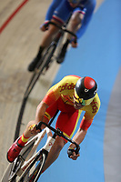 Picture by SWpix.com - 02/03/2018 - Cycling - 2018 UCI Track Cycling World Championships, Day 3 - Omnisport, Apeldoorn, Netherlands - Men's Points Race - Eloy Teruel Rovira of Spain