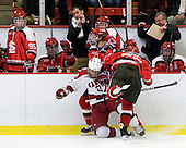 Jake Klancher (St. Lawrence - 28), Michael Biega (Harvard - 27), Bobby Torney (St. Lawrence - 55) - The St. Lawrence University Saints defeated the Harvard University Crimson 3-2 on Friday, November 20, 2009, at the Bright Hockey Center in Cambridge, Massachusetts.