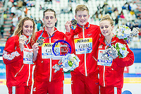 British Swimming GBR<br /> WALKER-HEBBORN Chris, PEATY Adam, O'CONNOR Siobhan Marie, HALSALL Fran<br /> Mixed 4X100 Medley Relay Gold Medal<br /> Swimming - Kazan Arena<br /> Day13 05/08/2015<br /> XVI FINA World Championships Aquatics Swimming<br /> Kazan Tatarstan RUS July 24 - Aug. 9 2015 <br /> Photo A.Masini/Deepbluemedia/Insidefoto