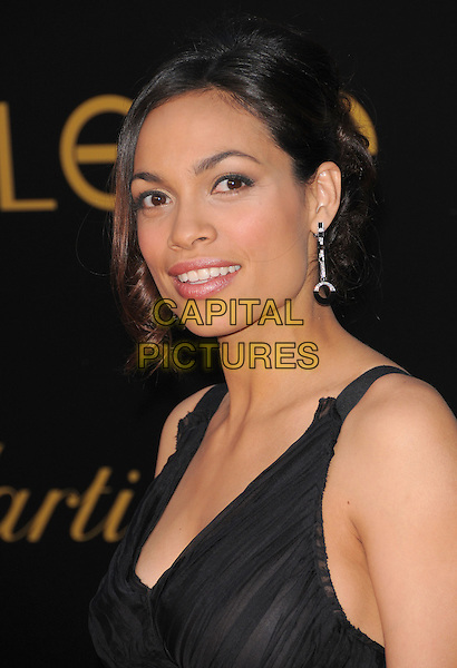 ROSARIO DAWSON.The 3rd Annual Leveday Hosted by Cartier held at a private estate in Bel Air, California, USA..June 18th, 2008.headshot portrait black dangling earring  .CAP/DVS.©Debbie VanStory/Capital Pictures.