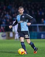 Jason McCarthy of Wycombe Wanderers in action during the Sky Bet League 2 match between Wycombe Wanderers and Morecambe at Adams Park, High Wycombe, England on 2 January 2016. Photo by Andy Rowland / PRiME Media Images