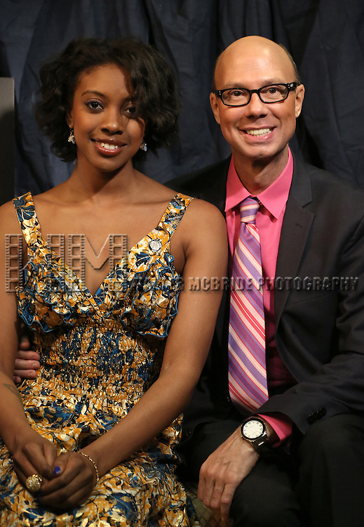 Condola Rashad & Richard Ridge  'In The Spotlight' at the 2013 Tony Awards Meet The Nominees Junket  at the Millennium Broadway Hotel in New York on 5/1/2013...