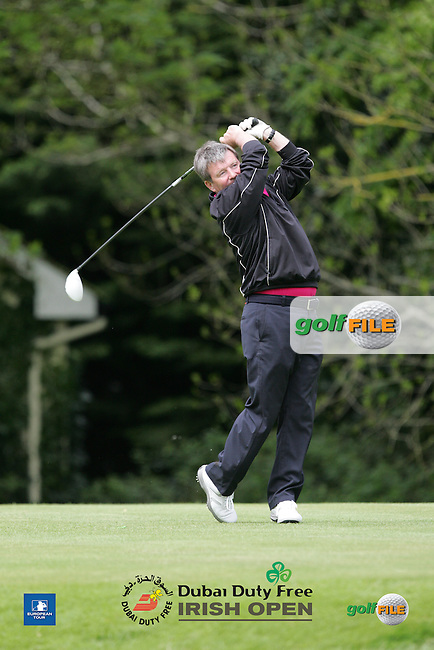 Geoff Coman during Wednesday's Pro-Am ahead of the 2016 Dubai Duty Free Irish Open Hosted by The Rory Foundation which is played at the K Club Golf Resort, Straffan, Co. Kildare, Ireland. 18/05/2016. Picture Golffile | TJ Caffrey.<br /> <br /> All photo usage must display a mandatory copyright credit as: &copy; Golffile | TJ Caffrey.