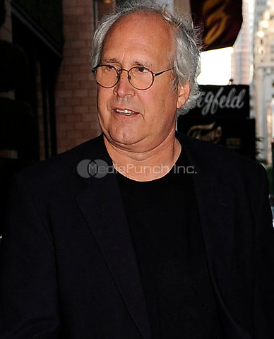 NEW YORK - OCTOBER 07: Actor Chevy Chase and his wife Jayni Luke arrive at their midtown hotel. on October 7, 2009 in New York City.<br /><br /><br />People:  Chevy Chase, Jayni Luke<br /><br />Transmission Ref:  MNC<br /><br />Credit: Hoo-Me.com/MediaPunch