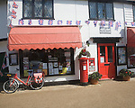Traditional village Post Office shop, Woolpit, Suffolk, England