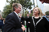 On the 10th anniversary of the September 11th terrorist attacks, United States Secretary of State Hillary Rodham Clinton (left), wife of former U.S. President Bill Clinton, with Manhattan District Attorney Cyrus Vance, Jr. at opening day of the September 11th Memorial at the World Trade Center site on Sunday, September 11, 2011..Credit: Jefferson Siegel / Pool via CNP
