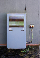 An air source heat pump. The first to be used on a pig unit in the country.