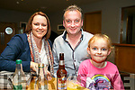 Enjoying the Caherleaheen NS Fashion Show at Ballyroe Hotel on Thursday were Sarah O'Connor, Frank O'Connor and Emma O'Connor