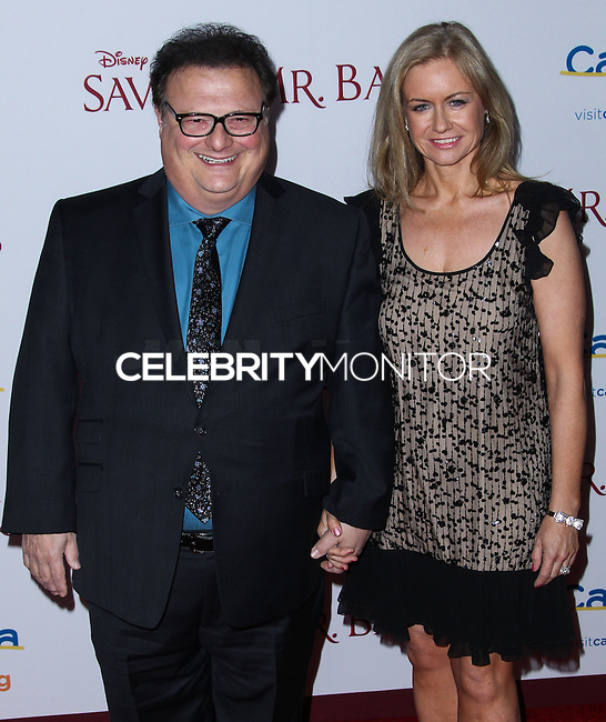 "BURBANK, CA - DECEMBER 09: Wayne Knight, Clare De Chenu arriving at the U.S. Premiere Of Disney's ""Saving Mr. Banks"" held at Walt Disney Studios on December 9, 2013 in Burbank, California. (Photo by Xavier Collin/Celebrity Monitor)"