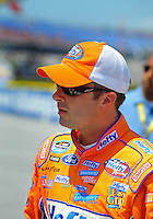 Apr 25, 2009; Talladega, AL, USA; NASCAR Nationwide Series driver Eric McClure prior to the Aarons 312 at the Talladega Superspeedway. Mandatory Credit: Mark J. Rebilas-