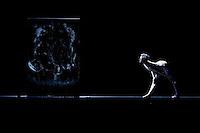Bernice Coppieters dances in the dress rehearsal of Les Ballets de Monte Carlo's performance of the ballet 'Silent Cries' by Jiri Kylian, Grimaldi Forum, Monaco, 30 December 2009