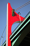 Puente de la Salve Bridge by Daniel Buren, Bilbao, Basque Country, Spain