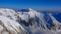 Mount Hunter from Denali's West Buttress route, Alaska Range.