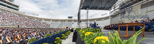 May 21, 2017; Rev. Gregory J. Boyle, S.J. gives the Laetare Medal address at Commencement 2017. (Photo by Matt Cashore/University of Notre Dame)