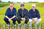 Ballybunion's JD Guiney, Dave O'Driscoll and Peter Sheehan that played Tralee in the Irish Senior Open West Munster section in Dooks on Saturday
