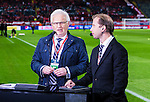 Solna 2015-09-08 Fotboll EM-kval , Sverige - &Ouml;sterrike :  <br /> Kanal 5 expert Hans Hasse Backe i TV-studion inf&ouml;r matchen mellan Sverige och &Ouml;sterrike <br /> (Photo: Kenta J&ouml;nsson) Keywords:  Sweden Sverige Solna Stockholm Friends Arena EM Kval EM-kval UEFA Euro European 2016 Qualifying Group Grupp G &Ouml;sterrike Austria portr&auml;tt portrait TV TV-k&auml;ndis k&auml;ndis