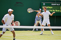 29-06-12, England, London, Tennis , Wimbledon, Rojer-Qureshi(L)
