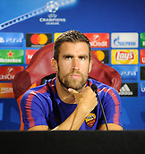September 11th 2017, Trigoria, Rome, Italy, AS Roma press conferenc ebefore their Champions league match against Atletico Madrid on Sptember 12th in Rome; Kevin Strootman
