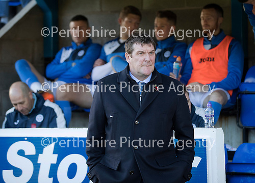 St Johnstone v Celtic&hellip;04.11.17&hellip;  McDiarmid Park&hellip;  SPFL<br />Saints manager Tommy Wright<br />Picture by Graeme Hart. <br />Copyright Perthshire Picture Agency<br />Tel: 01738 623350  Mobile: 07990 594431