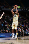 Codi Miller-McIntyre (0) of the Wake Forest Demon Deacons attempts a jump shot during first half action against the UNC Asheville Bulldogs at the LJVM Coliseum on November 14, 2014 in Winston-Salem, North Carolina.  The Demon Deacons defeated the Bulldogs 80-69  (Brian Westerholt/Sports On Film)